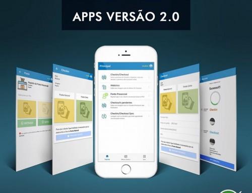 Nossos aplicativos agora contam com um design 2.0 …